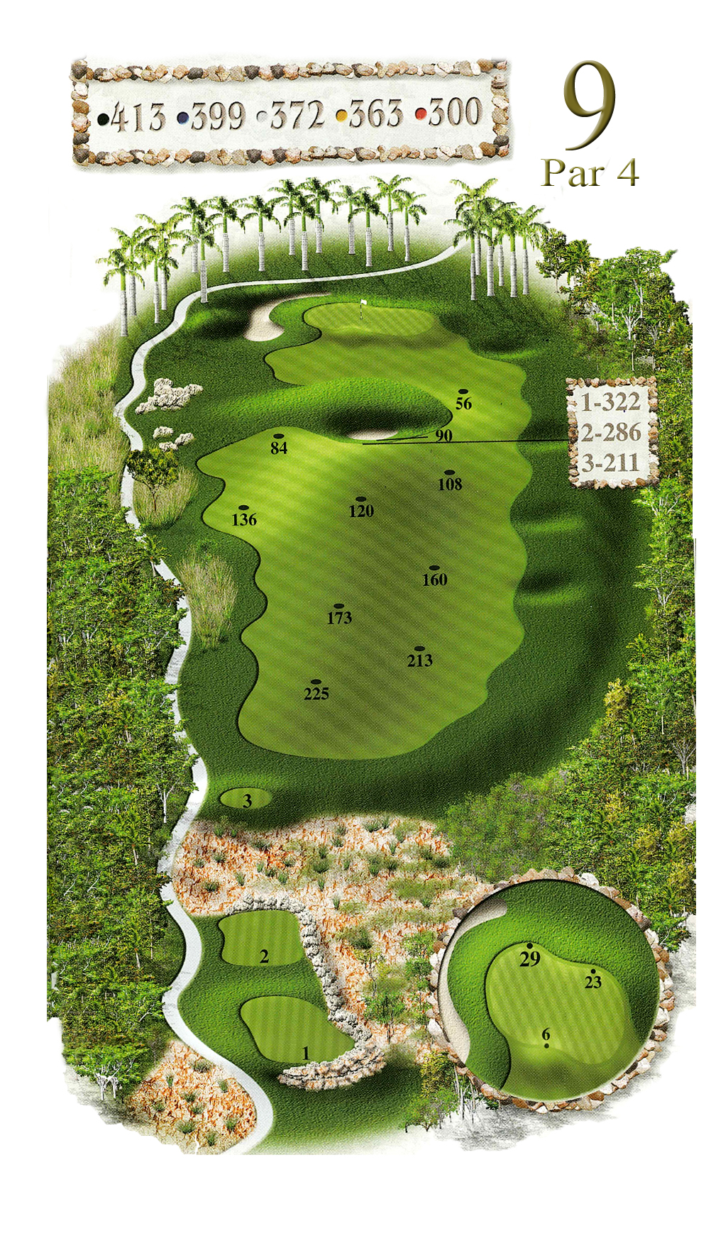 Hole #9 • Par 4• 405 yards